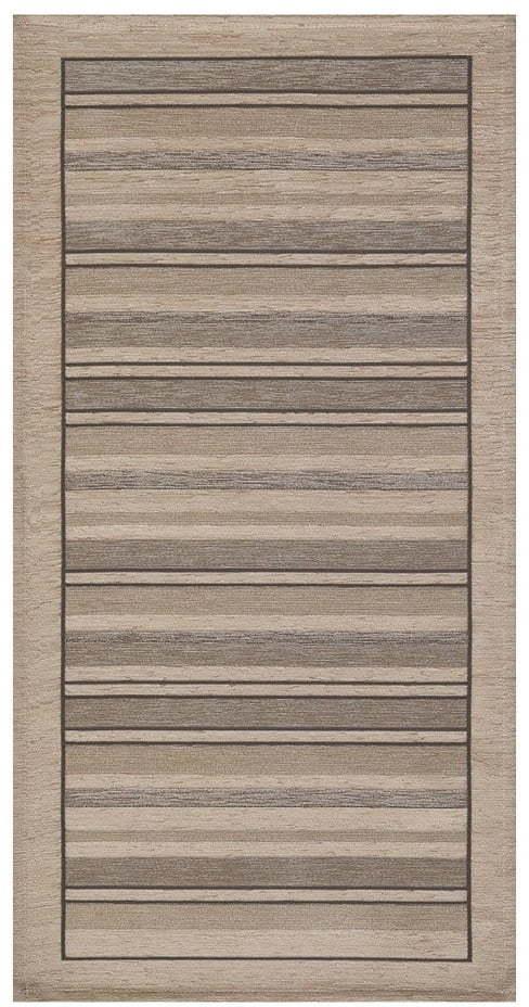 Béžový behúň Floorita Velour, 55 x 190 cm