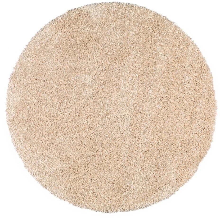 Béžový guľatý koberec Universal Aqua, ø 80 cm