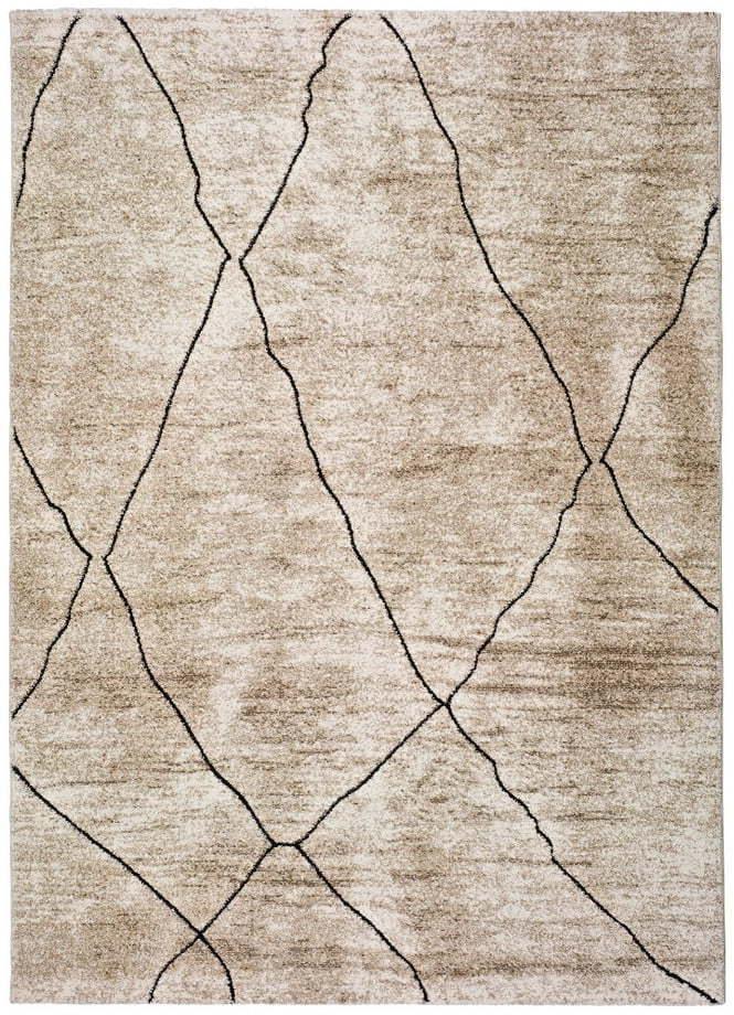 Béžový koberec Universal Hydra Beige, 120 × 170 cm