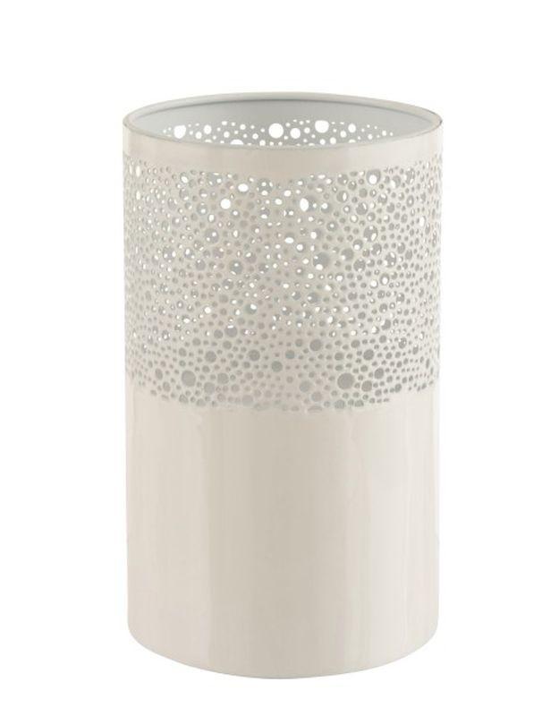 Béžový kovový svietnik Perform - Ø15,5 * 25 cm