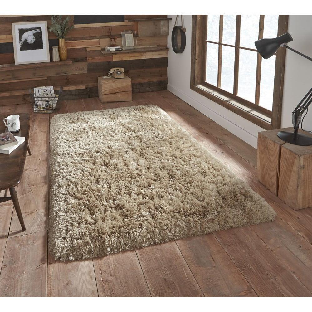 Béžový ručne tuftovaný koberec Think Rugs Polar PL Beige, 60 × 120 cm