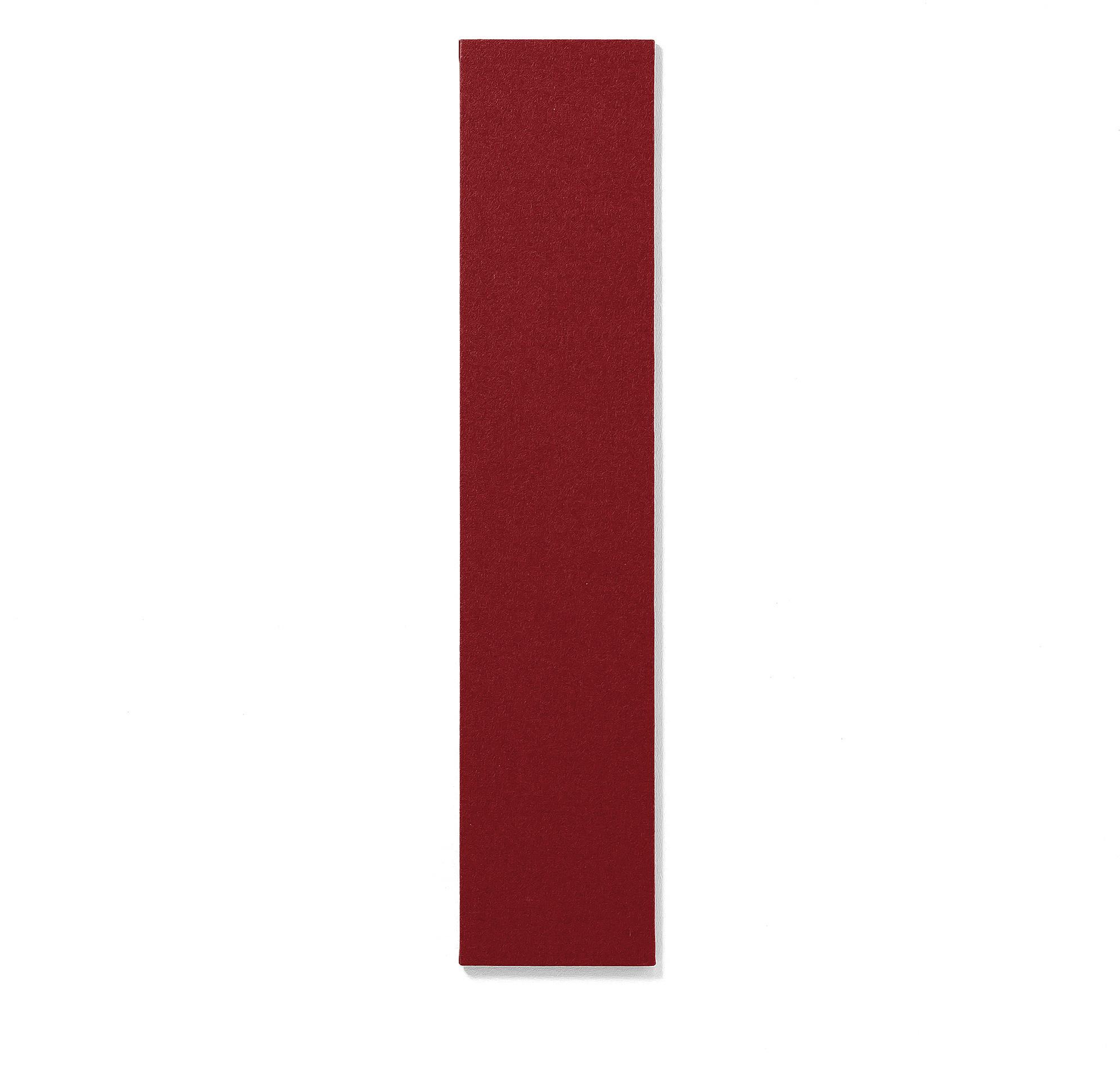 Bezrámová nástenka Air, 250x1190 mm, červená