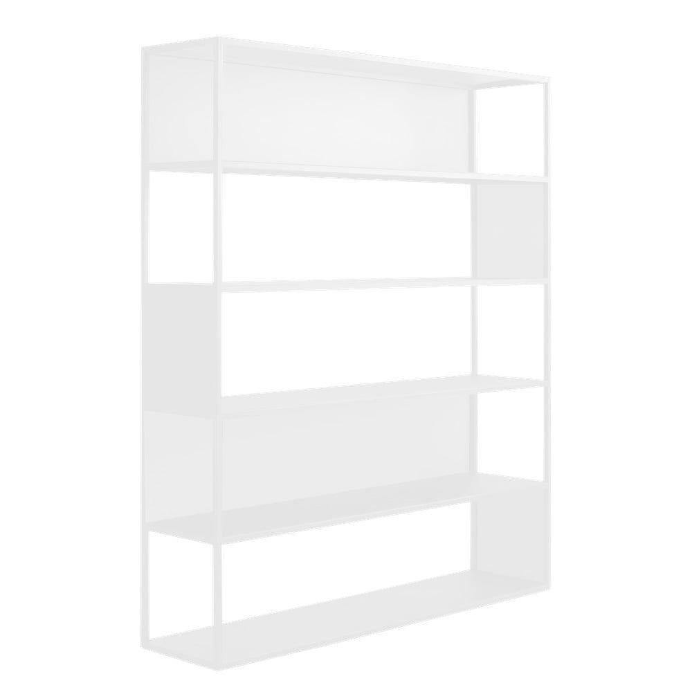 Biela kovová knižnica Custom Form Hyller, výška 180 cm