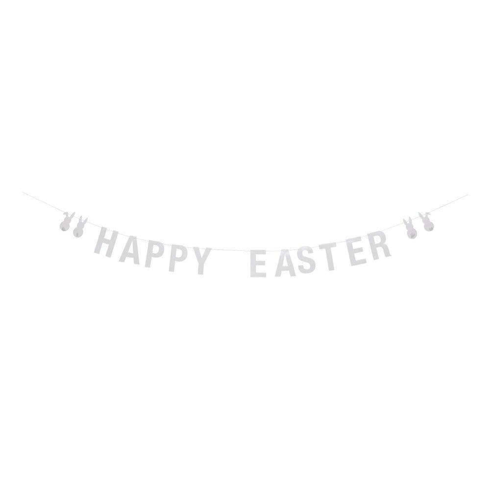 Biela papierová girlanda Bloomingville Happy Easter, dĺžka 200 cm