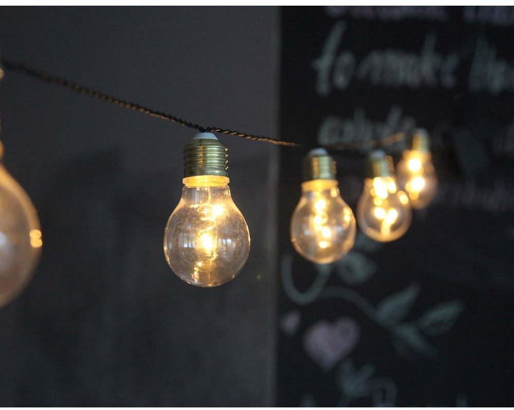 Biela svetelná LED reťaz Star Trading Bulbs In Love, 5 svetielok