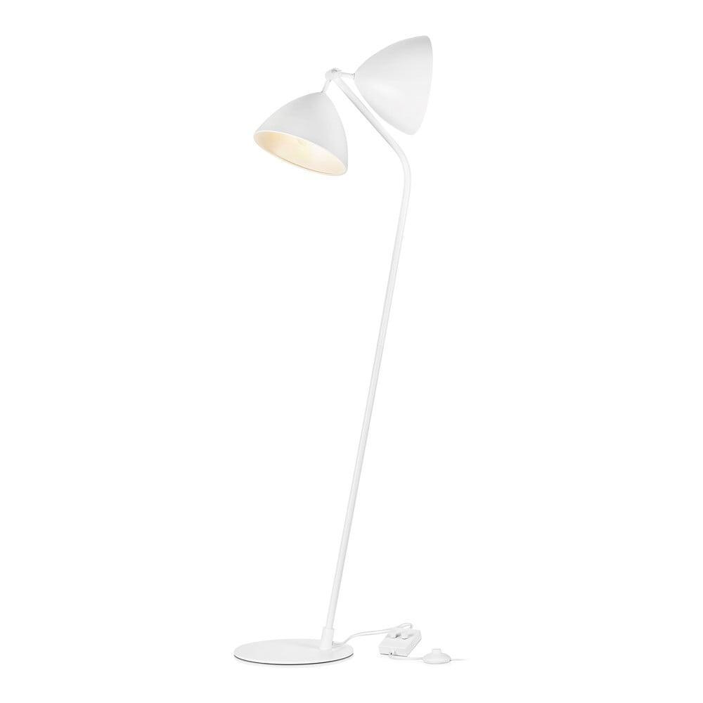 Biela stojacia lampa Markslöjd Dagmar Dos Floor White 2L, výška 1,45 m