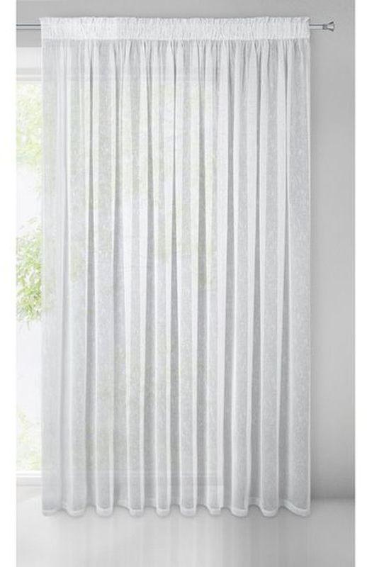 Biela záclona na páske IDA 300x250 cm