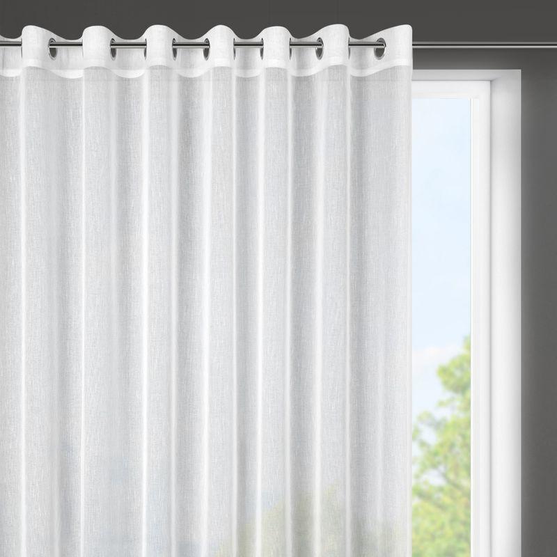 Biela záclona SONIA so štruktúrou jemného dažďa 300x145 cm