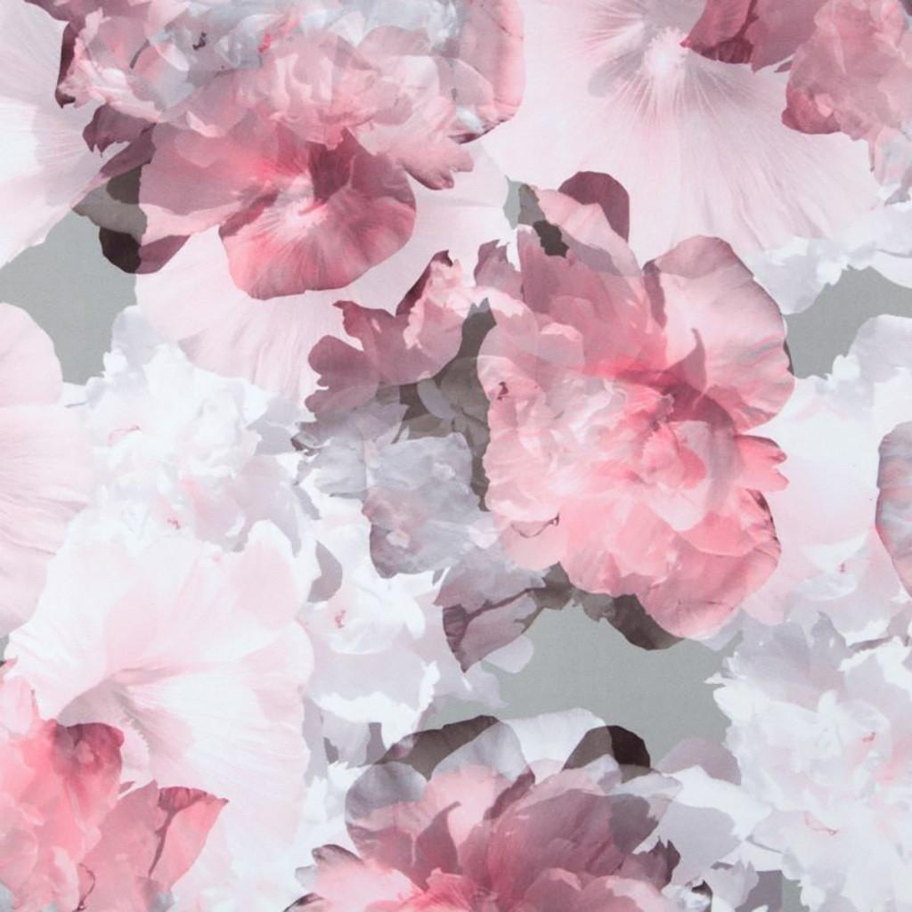 Bielo ružovy romantický zatemňujúci záves so zavesením na štipce