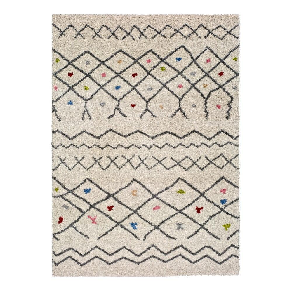 Biely koberec vhodný aj do exteriéru Universal Kasbah Puro, 80 x 150 cm