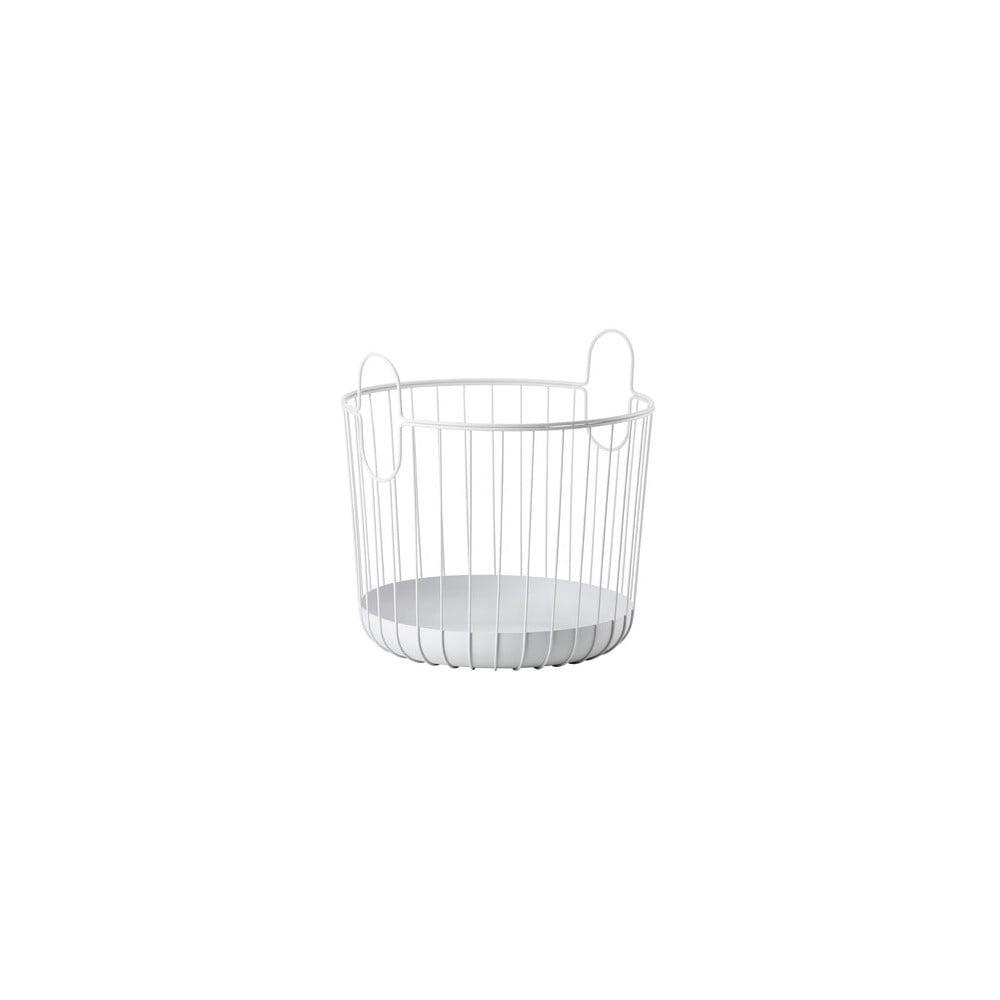 Biely kovový úložný košík Zone Inu, ø 40,6 cm