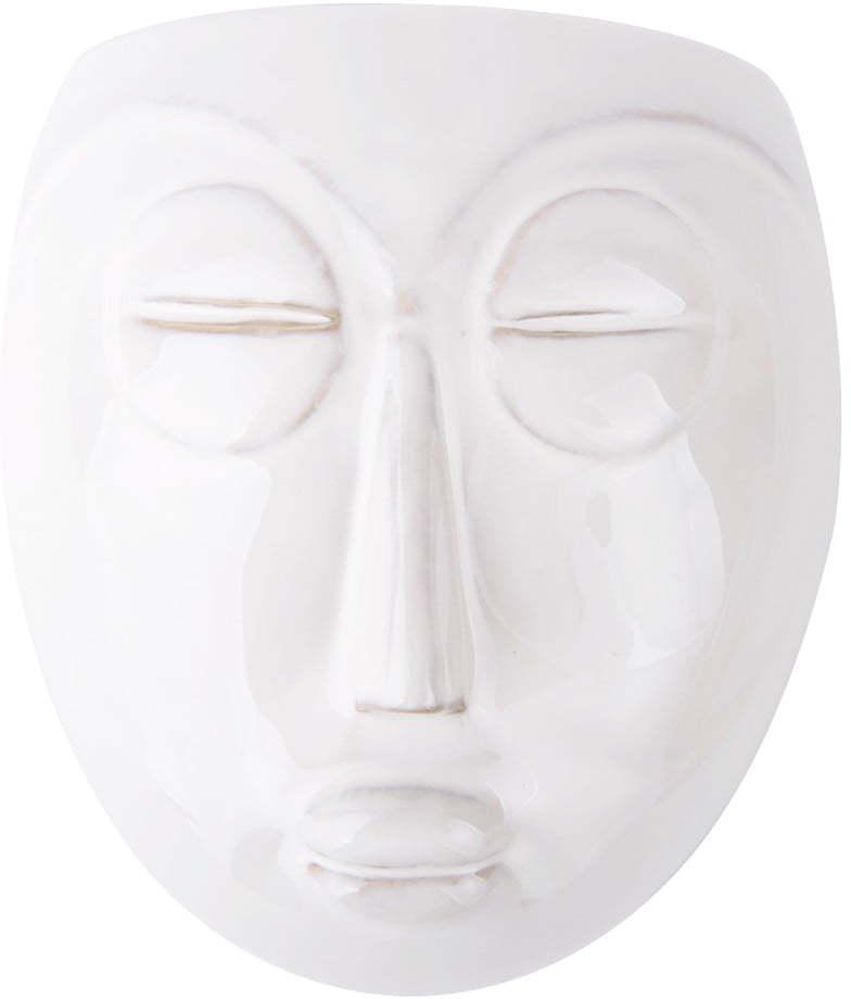 Biely nástenný kvetináč PT LIVING Mask, 16,5 x 17,5 cm