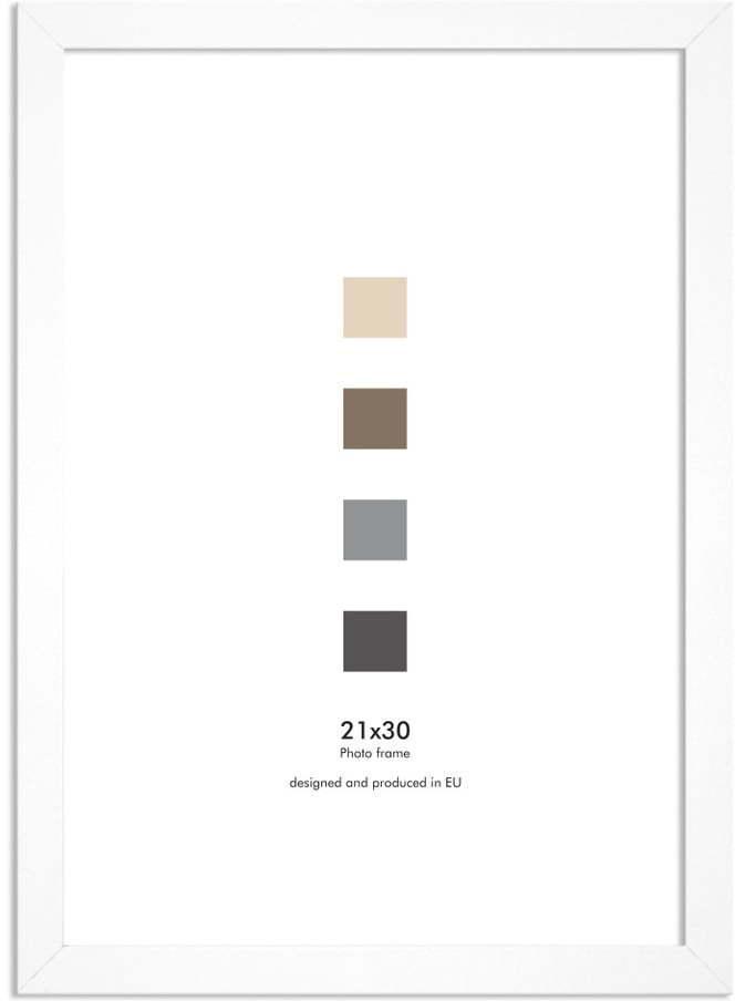 Biely nástenný rámik Styler Ramka Japan AF, 21 × 30 cm