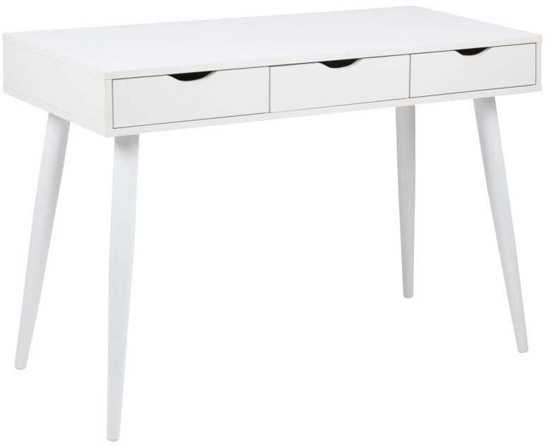 Biely pracovný stôl so zásuvkami Actona Neptun