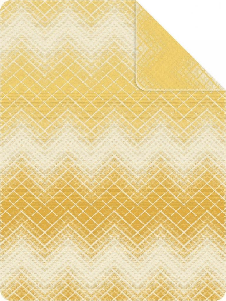 Bio:Vio PLÉD, bavlna, 140/200 cm - žltá, biela