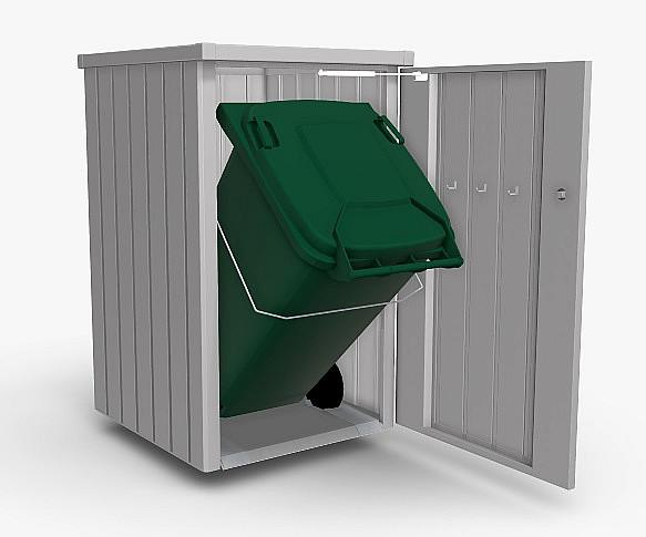 Biohort Box na odpadkový kôš BIOHORT Alex 1 (strieborná metalíza)