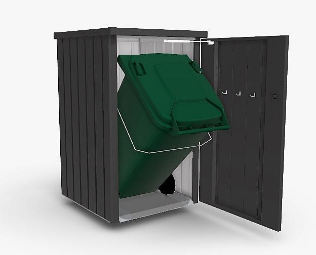 Biohort Box na odpadkový kôš BIOHORT Alex 1 (tmavo sivá metalíza)
