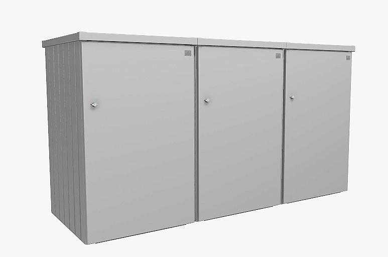 Biohort Box na odpadkový kôš BIOHORT Alex 3 (strieborná metalíza)