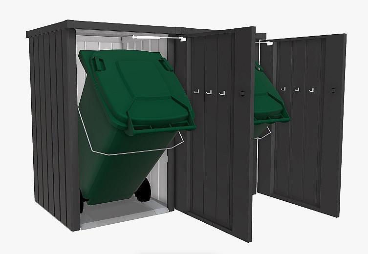 Biohort Box na smetiaku BIOHORT Alex 2 (tmavo šedá metalíza)