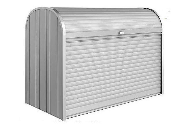 Biohort Mnohostranný účelový roletový box StoreMax vel. 190 190 x 97 x 136 (strieborna metalíza) 190 cm (2 krabice)