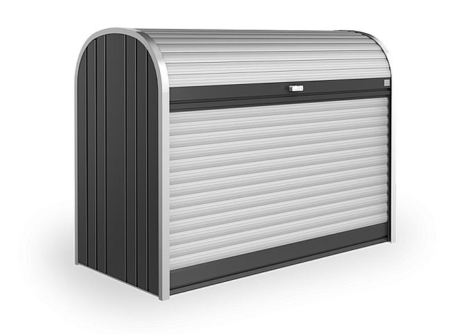 Biohort Mnohostranný účelový roletový box StoreMax vel. 190 190 x 97 x 136 (tmavo sivá metalíza) 190 cm (2 krabice)