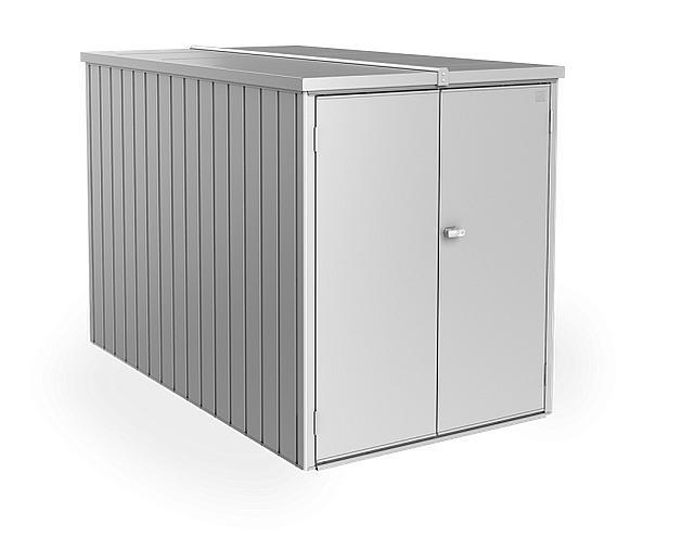Biohort Multifunkčný úložný priestorový box Minigaráž (strieborná metalíza) Minigaráž (3 krabice)