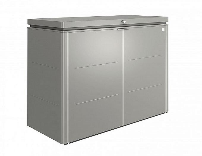 Biohort Multiúčelový úložný box HighBoard 200 x 84 x 127 (sivý kremeň metalíza) 200 cm (3 krabice)