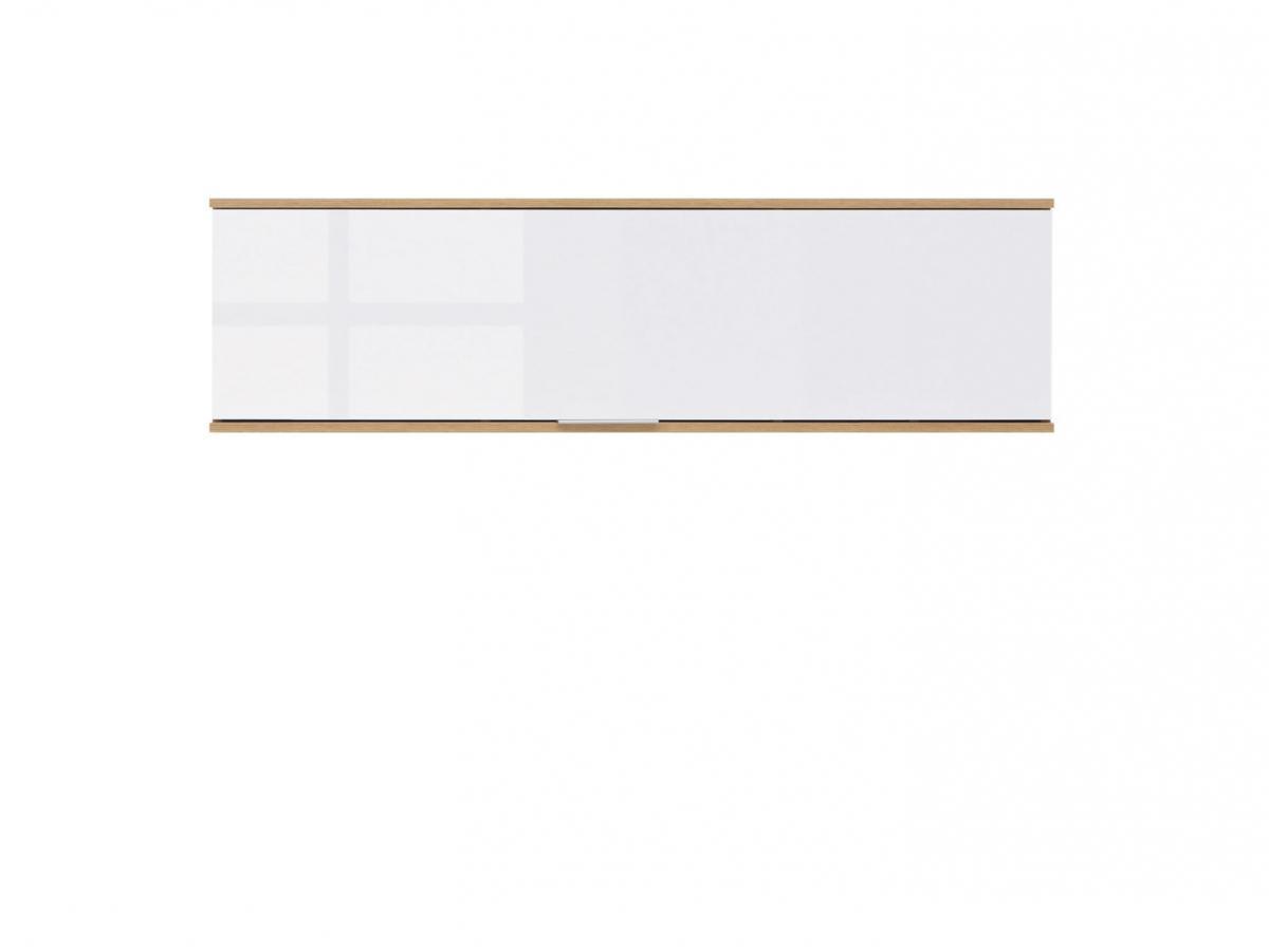 BLACK RED WHITE Zele SFW1K skrinka na stenu dub wotan / biely lesk