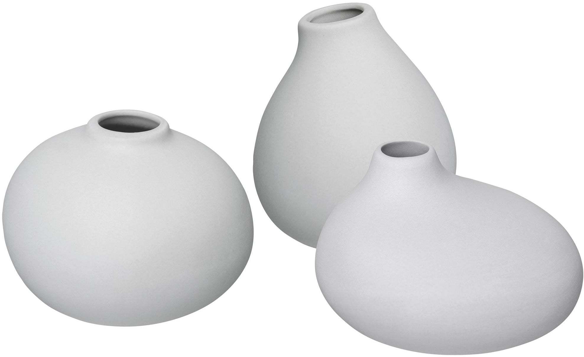 BLOMUS Set 3 váz nona světle šedé