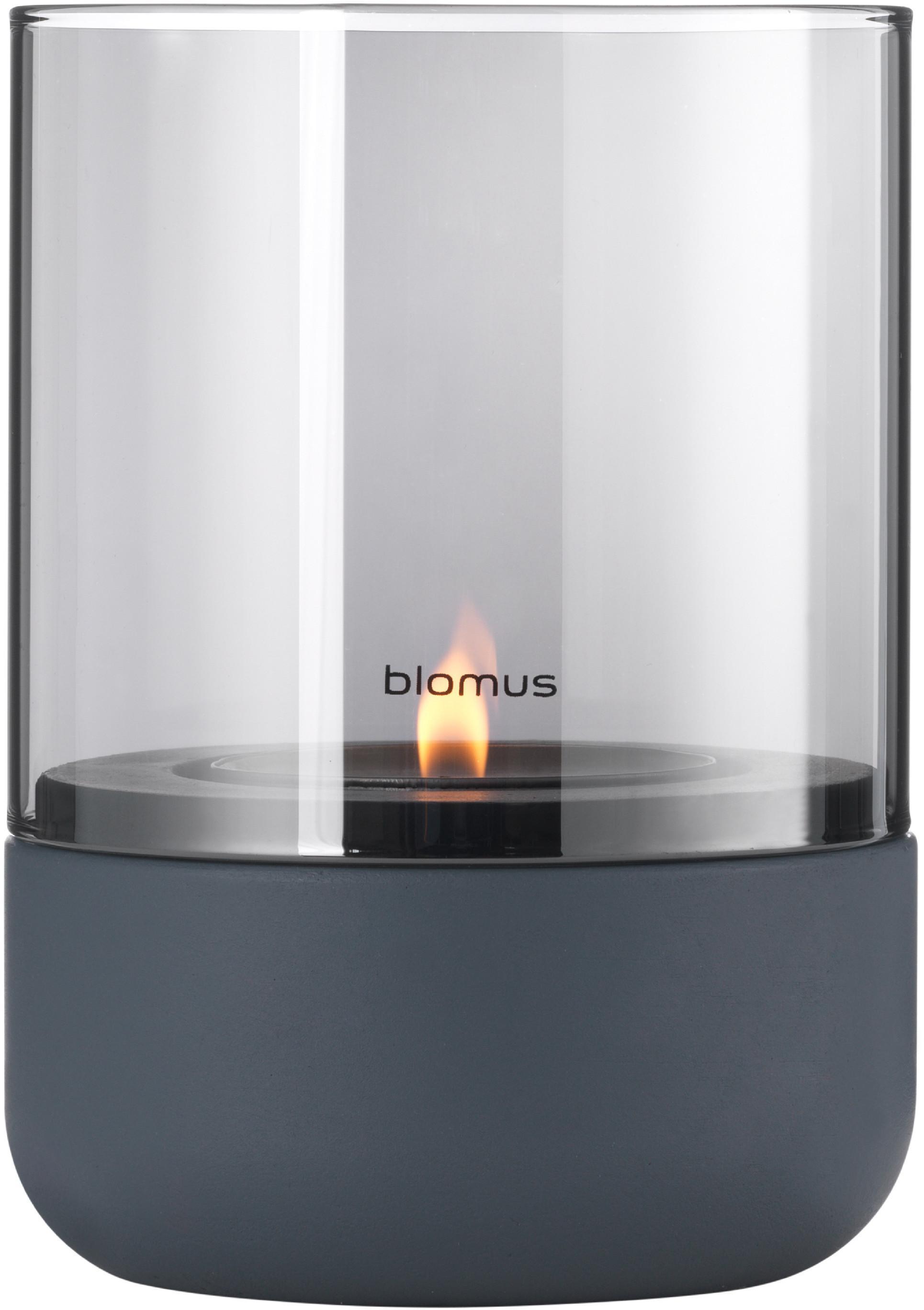 Blomus Svícen na čajovou svíčku ocelově šedá CALMA