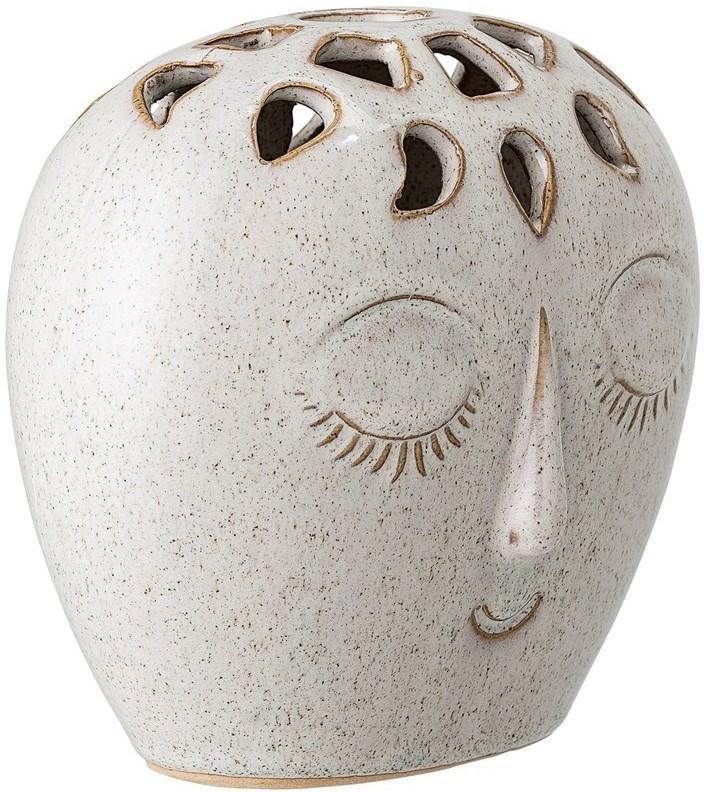 Bloomingville Kameninová váza Blooming Ville Face 15,5x14,5 cm