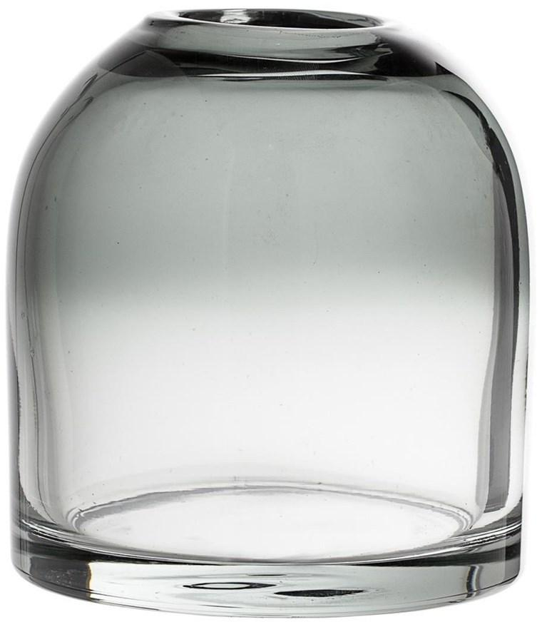 Bloomingville Skleněná váza Blooming Ville Magrethe | šedá
