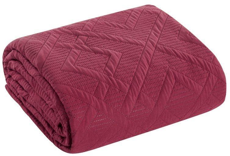 Bordový prehoz na posteľ ALARA 200x220 cm BF