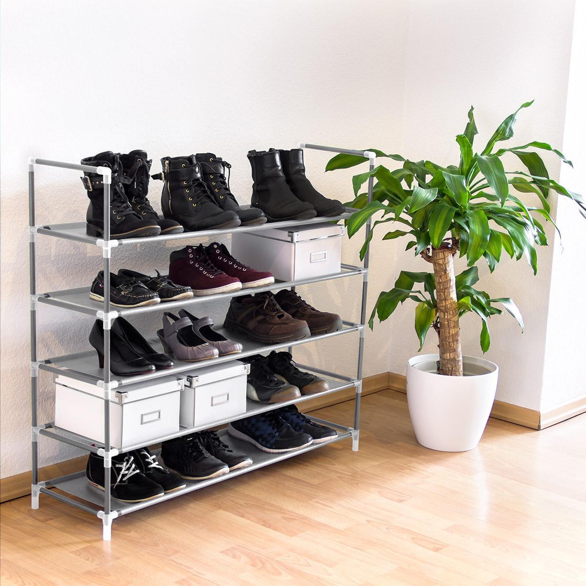 Botník pre 20 párov topánok, RD9128, šedý
