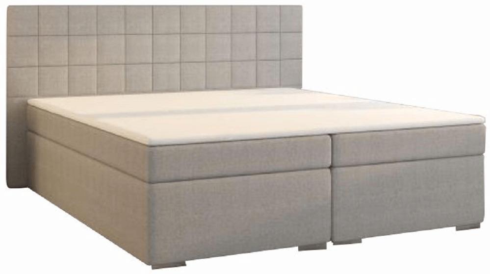 Boxspringová posteľ, 160x200, sivá, NAPOLI MEGAKOMFORT