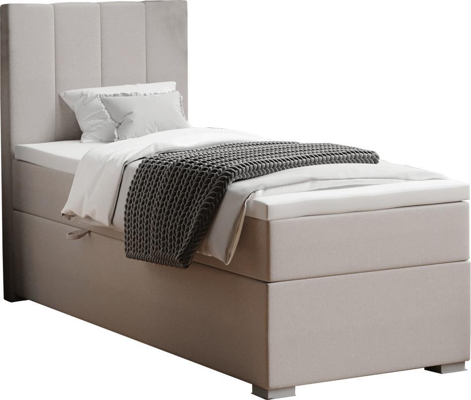 Boxspringová posteľ, jednolôžko, taupe, 90x200, ľavá, BRED