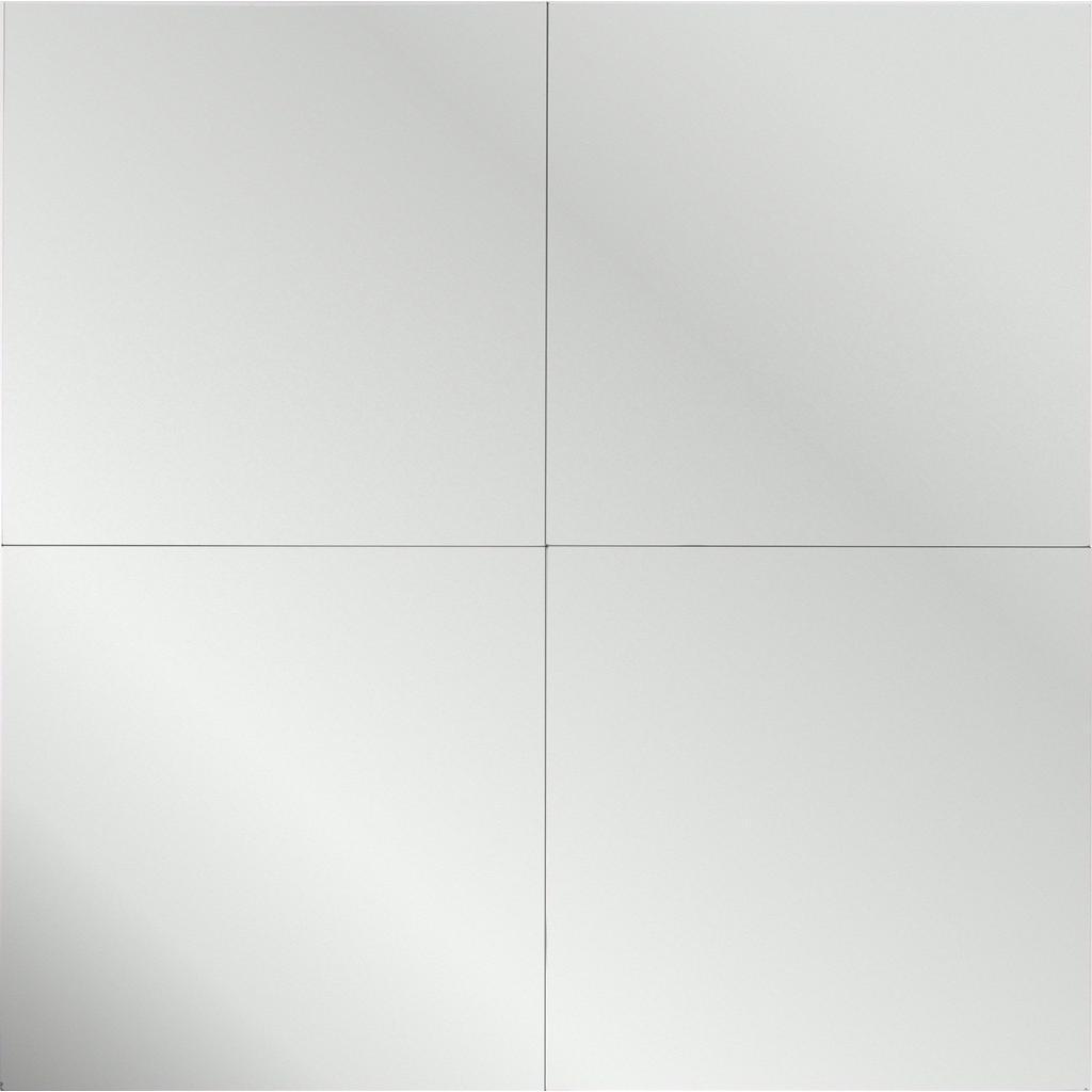 Boxxx NÁSTENNÉ ZRKADLO, 30/30/0,3 cm - strieborná