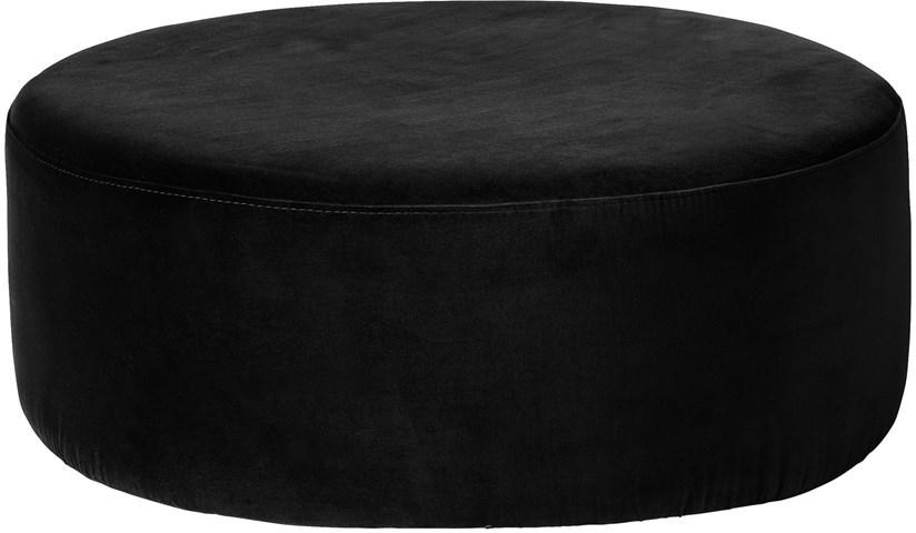 Broste Copenhagen Pouf Broste Wind 82x30 cm | černý