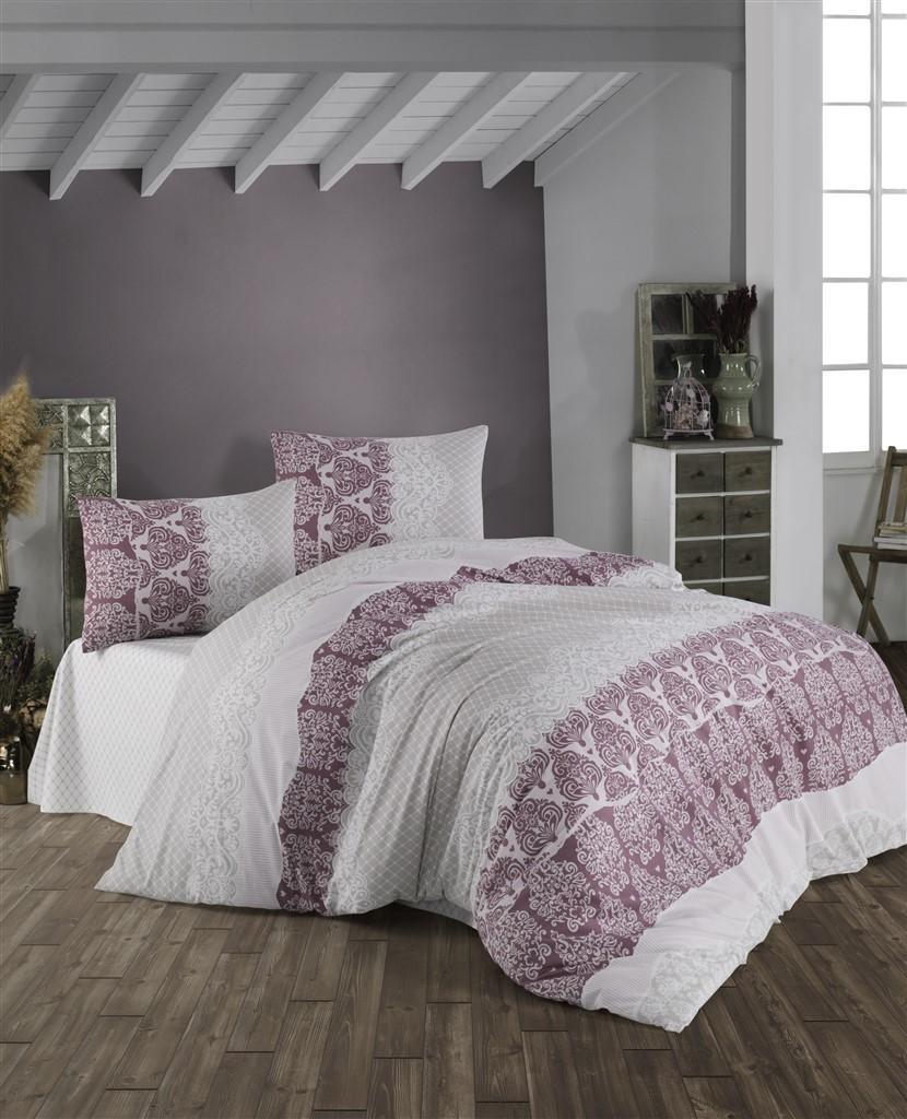 Brotex Obliečky bavlnené Madelaine Bordo 240x200/2x70x90 cm
