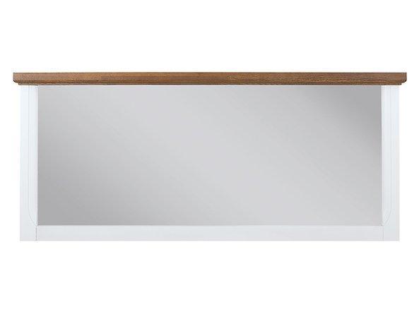 BRW Zrkadlo: KALIO - LUS Farba: biely lesk/ akácia zlatá