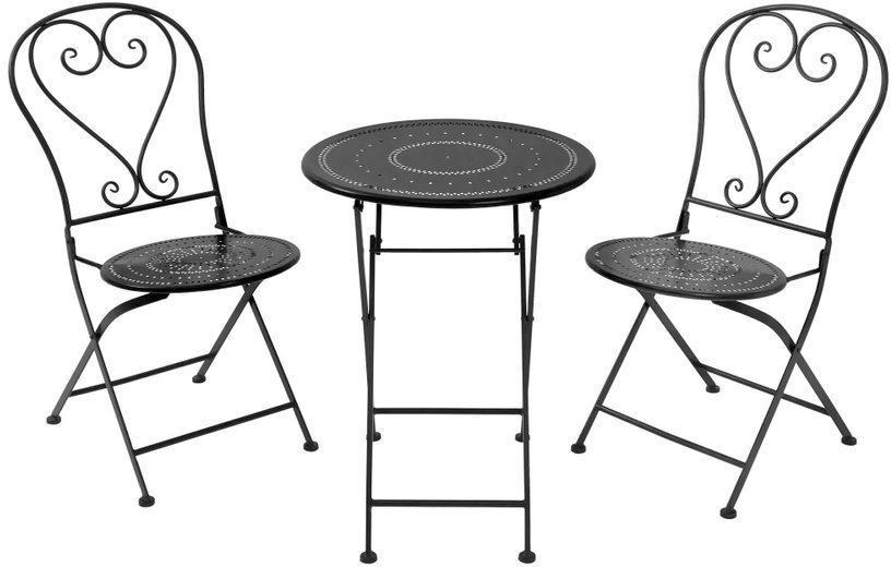 Butlers BOVERY Balkónový set nábytku pre 2 osoby - čierna