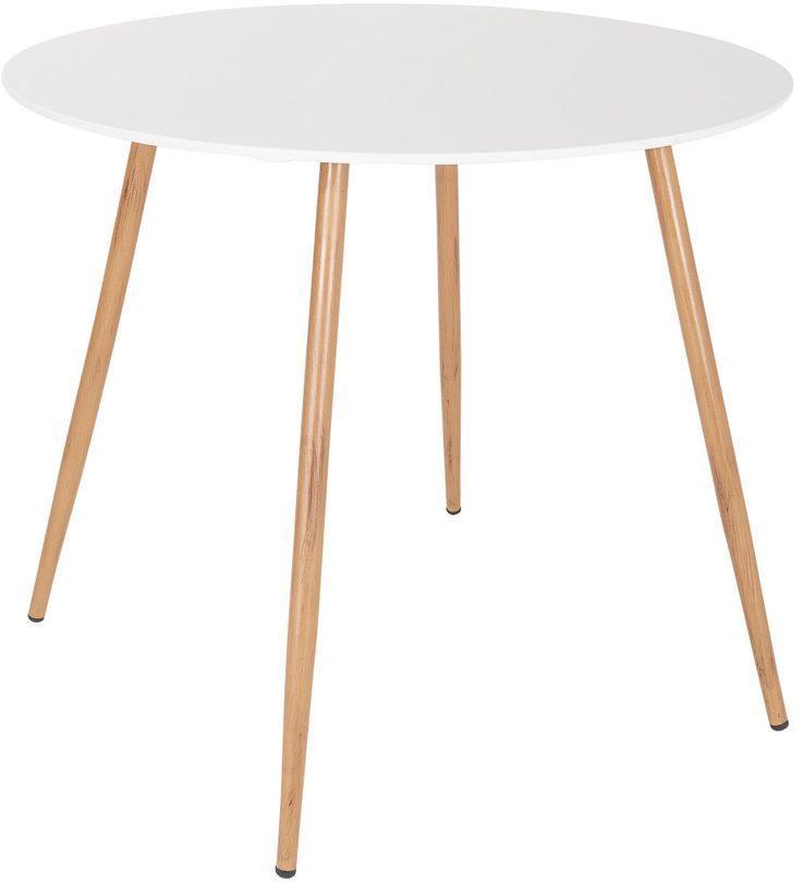 Butlers LINEA Jedálenský stôl okrúhly 90 cm - biela/prírodná
