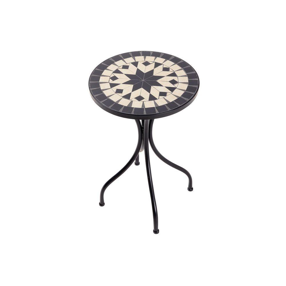 Butlers PALAZZO Záhradný stolík 35 cm - krémová/čierna