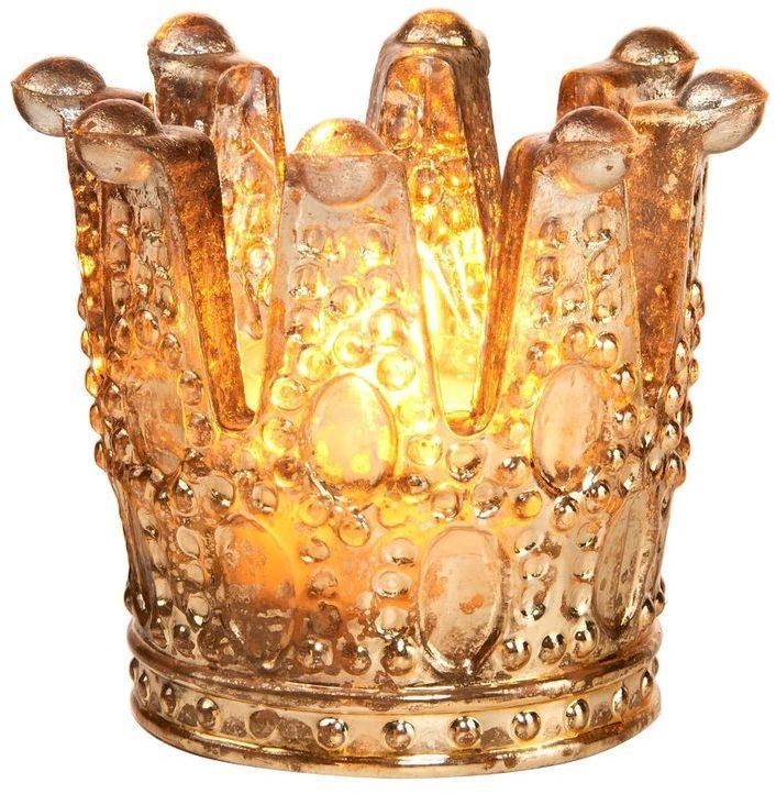 Butlers ROYAL DELIGHT Svietnik na čajovú sviečku koruna veľký