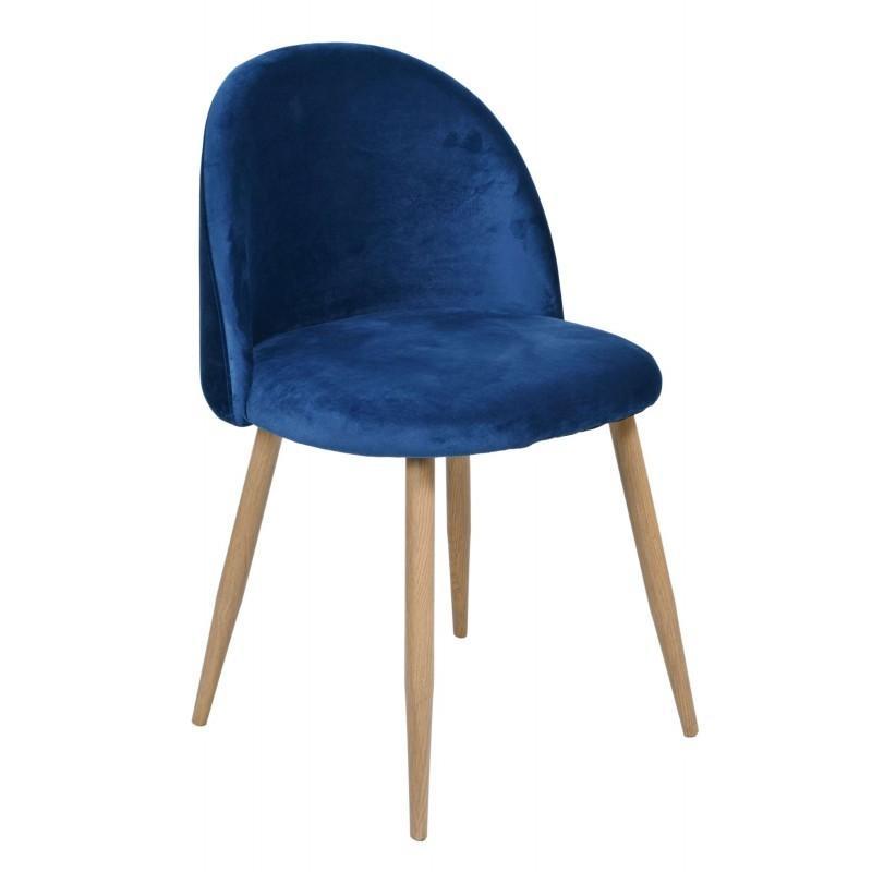 Čalúnená stolička  Jazz - modrá