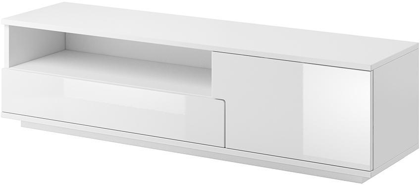 CAMA MEBLE Muza tv stolík biela / biely lesk
