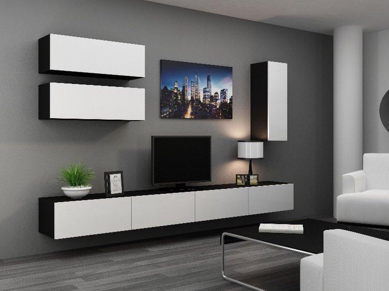 CAMA MEBLE Obývacia stena VIGO 13 Farba: čierna/biela