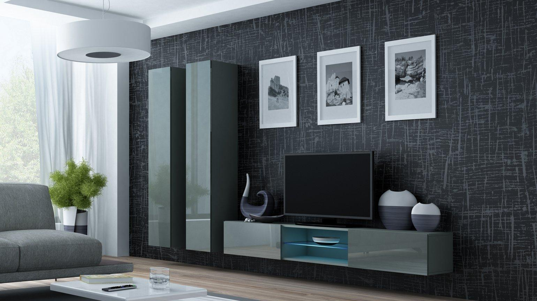 CAMA MEBLE Obývacia stena VIGO 19 Farba: sivá