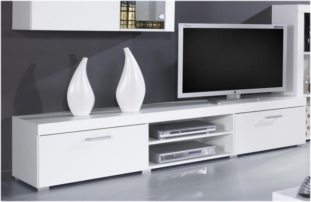 CAMA MEBLE Samba REG8 tv stolík biela / biely lesk
