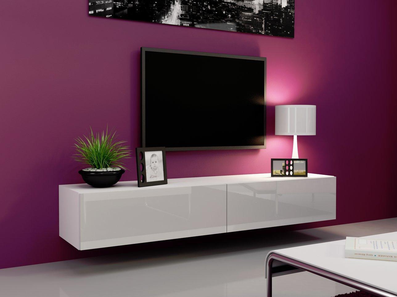 CAMA MEBLE Televízny stolík VIGO 180 Farba: biela